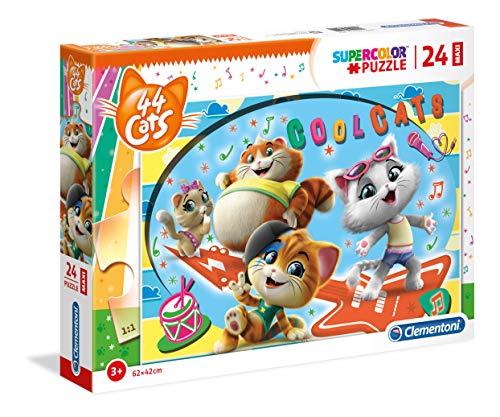 Clementoni Supercolor Puzzle-44 Gatti-24 Maxi Pezzi, Multicolore, 28512