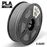 Enotepad PLA Plus 3D Printer Filament, 1.75mm PLA Plus Filament, Dimensional Accuracy +/- 0.02mm,Soft & Non-toxic Material, Enotepad PETG (0-PLA, Silver)
