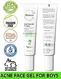 KIRIKURA Vegan ACNE Face Gel for Boys,Acne gel with Salicyclic Acid and Cinnamon Bark Extract, Acne Scar for Boys.