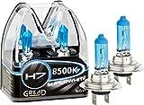 Gread Lights - Scatola di lampadine super white, alogene H7, effetto xeno, 8500K, 55W, 100% precisione e lunga durata, certificazione europea