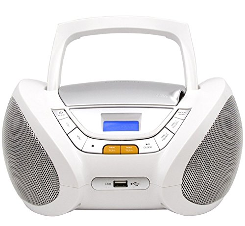 CD-Player | Tragbares Stereo Radio | Kinder Radio | Stereo Radio | Stereoanlage | Boombox | LCD-Display | USB-Anschluss | AUX IN | FM Radio