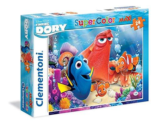 Clementoni - 24054 - Supercolor Puzzle - Findig Dory - Friends Make Colorful - 24 Maxi Pezzi -...