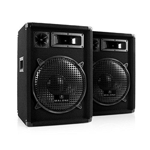 """2 Enceintes Passives Sono DJ 300W RMS subwoofer 12"""" Pack Pro 22"""