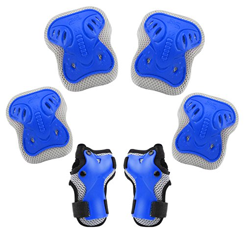 BROTOU Bambini Kit Protezione, ginocchiere, gomitiere e guanti in gel per bambini, per hoverboard,...