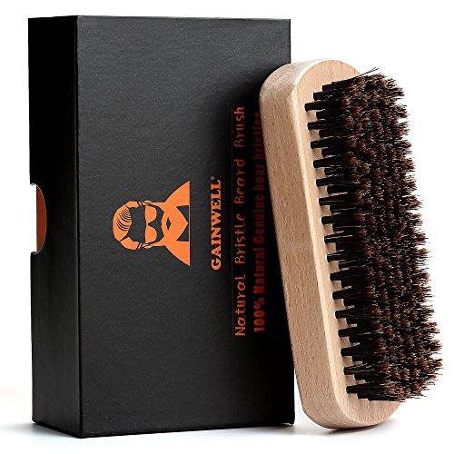 GAINWELL SPAZZOLA DA BARBA 100% NATURALE setole di cinghiale e manico in legno - per l'uomo ben curato