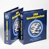 Leuchtturm Vordruckalbum für Euro-Kursmünzensätze in 2 Bänden | Aufbewahrung für Kursmünzensatz aus Deutschland, Portugal, Spanien & viele andere Euro-Länder
