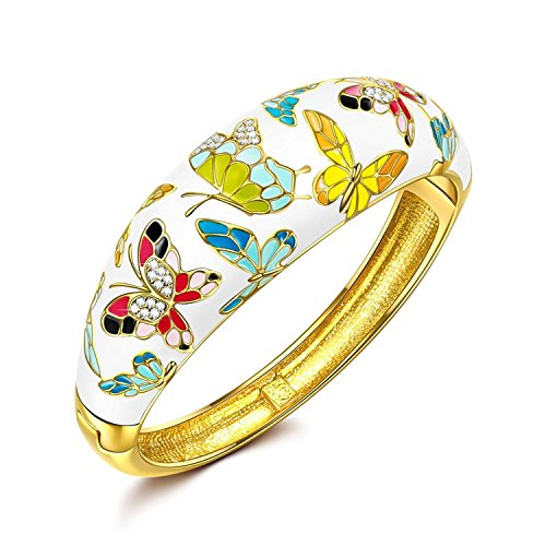 P&M-Primavera Versalles-Pulsera Mujer Joyeria Mariposa del esmalte-B1
