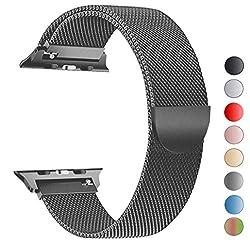 Kaufen Tervoka Apple Watch Armband 42mm(44mm Series 4), Milanese Schlaufe Edelstahl Smart Watch Armbänder mit einzigartiger Magnetverriegelung ohne Schnalle für Apple Watch Armband 42mm 44mm Series 4/3/2/1, Sport, Space grau