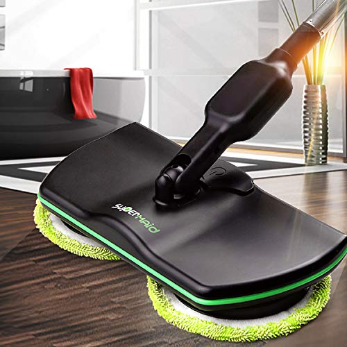 MYJZY Mop Elettrico Senza Fili, lavapavimenti, Robot Scopa per Pulizie domestiche Ricaricabile,...