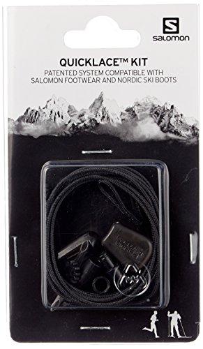 Salomon QUICKLACE KIT, L32667200, Set de cordones, Unisex, Negro