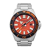 SPINNAKER - Amalfi - Men's Automatic Date Watch - Orange Dial - Stainless Steel - SP-5074-44