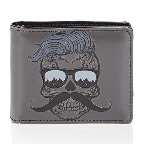 Shagwear portafoglio da uomo, Mens Wallet: (Fricchettone Cranio/Hipster skull)