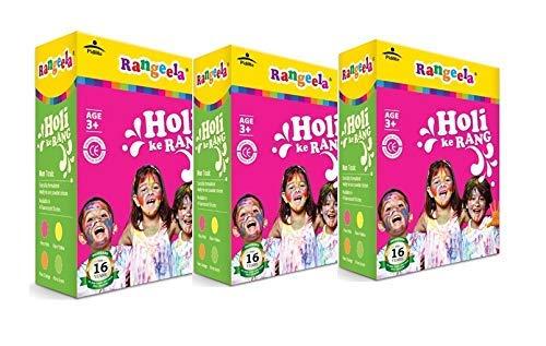 Rangeela Holi Ke Rang (Set of 3) - 4 Natural Colors (900 gm)
