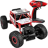 Popsugar Rock Crawler 1: 18 2.4GHz Remote Control Car 4WD Off Road RC Monster Truck Red
