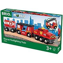 Brio-33844 Tren Juego Primera Edad, Negro, Rojo, Color Blanco, 3 a&ntildeos (33844)