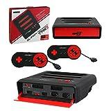Retro Bit Super Retro Trio 3 in 1 Console Red/Black, NES/SNES/Mega Drive PAL Version (Electronic Games) - [Edizione: Regno Unito]