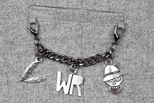 WIESNROCKER I WR3201 I Frauen-Trachtenweste hellgrau I modern & rockig I Damen-Gilet mit vielen Details I hochwertige Verarbeitung I Gr. S -