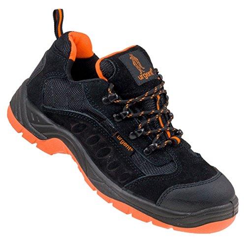 Arbeitsschuhe Sicherheitsschuhe URGENT 210 S1, Schwarz / Orange, 42 EU