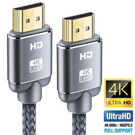 4K Cavo HDMI, Snowkids 2.0 a/b ad alta velocità con Ethernet, cavo hdmi 4K 2.0/1.4a, video UHD 2160p, Ultra HD 1080p, 3D, Arc, CEC, Xbox PS3 PS4 PC (Grigio)