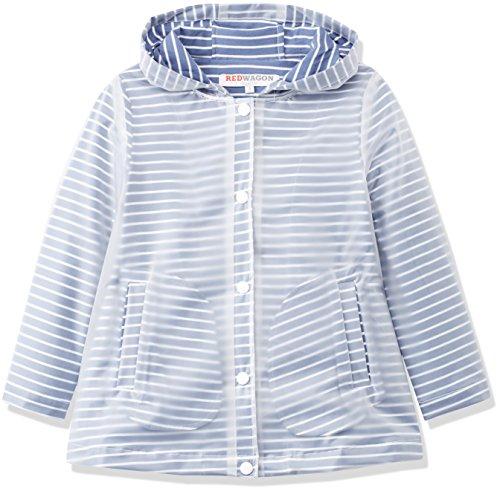 RED WAGON Mädchen Mantel Striped Mac, Blau (Blue), 140 (Herstellergröße: 10 Jahre)