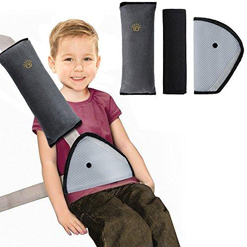 Rovtop 3 Pezzi Accessori Seggiolini Auto per Bambini, Cuscino Cintura Sicurezza Bambini, Lascia che il Bambino Dorma più Comodamente in Macchina, Proteggere le Vertebre Cervicali dei Bambini