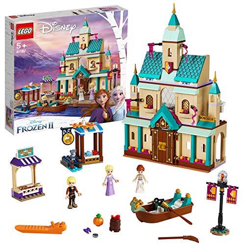 LEGO Frozen Il villaggio del Castello di Arendelle 41167, Ricrea la Magica Atmosfera del Castello di Arendelle con Tutti i Personaggi Preferiti del Film, Set di Costruzioni per i Bambini +5