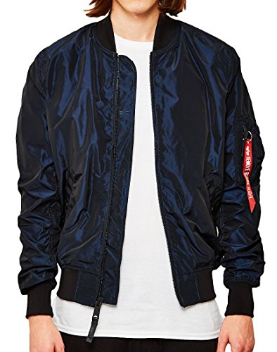 ALPHA INDUSTRIES MA-1 TT Bomber Jacket | Irridian Burgundy XLarge 42' Chest
