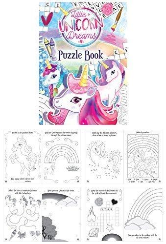 Henbrandt mini unicorno divertimento per bambini libro puzzle da colorare.