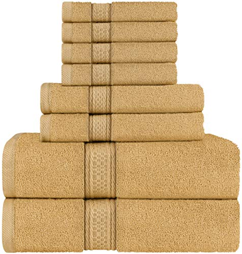 Utopia Towels - Set di asciugamani a 8 pezzi; 2 asciugamani da bagno, 2 asciugamani e 4 salviette...