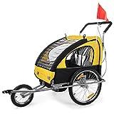 SAMAX / 56640011 Remorque buggy pour vélo/jogging Vert-Noir