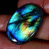 39.95CTS. 100% natural multi viola flash labradorite cabochon ovale gemme