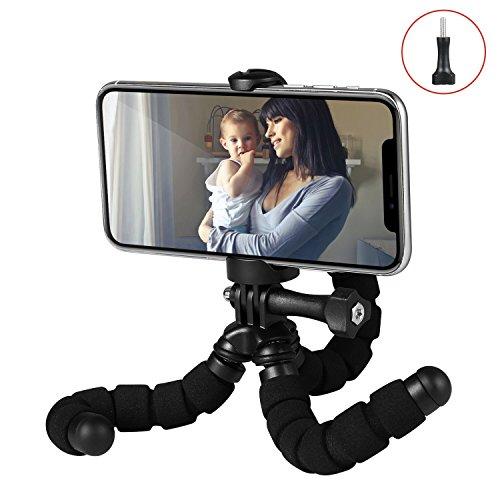 Fotopro RM-95-N - Mini trípode Flexible, con Soporte para Smartphone/cámaras de acción, Color Negro