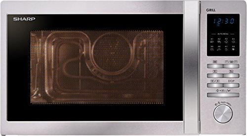 Sharp R-722STWE Encimera 25L 900W Acero inoxidable – Microondas (330 x 369 x 208 mm)