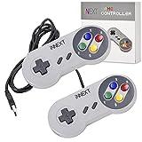 iNNEXT 2X USB Contrôleur pour jeux SNES NES, manette de jeu classique rétro USB pour PC Windows MAC et système Raspberry Pi