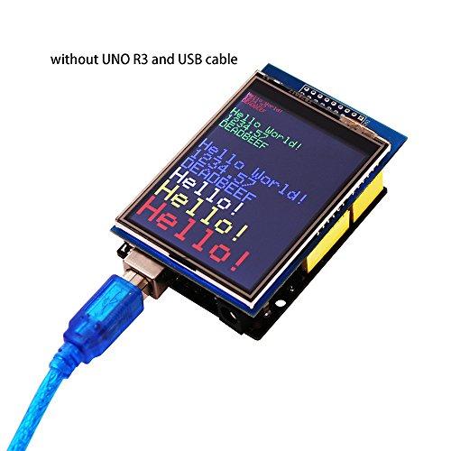 51BrLbWjkZL - ELEGOO Pantalla Táctil TFT de 2,8 Pulgadas con Tarjeta SD con Todos Los Datos Técnicos en CD Compatible con Arduino UNO R3 Placa