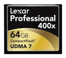 Lexar 64GB Professional 400x CompactFlash - Tarjeta de memoria (64 GB, CompactFlash (CF), 60 MB/s, Negro, UDMA 7)