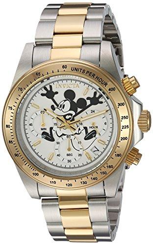 Invicta 22865 Disney Limited Edition - Mickey Mouse Unisex Uhr Edelstahl Quarz weißen Zifferblat