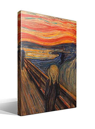 Quadro - Stampa su Tela Canvas - L'URLO DI MUNCH - 55 x 75 cm