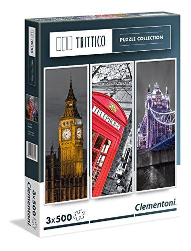Clementoni - 39306 - Trittico Puzzle - London - 3 x 500 Pezzi