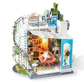 Rolife DIY Muñecas de Madera casa Manualidades Miniatura Kit Modelo & Mueble con Luces y Accesorios DIY Miniatura para…