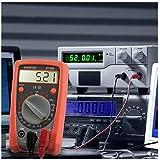 AIDBUCKS PM8233B Multimetro Digitale Rilevatore di Tensione Tester Voltometro Amperometro per Misurare di Tensione AC/DC Corrente DC Resistenza Test di continuità con LCD Display Retroilluminato