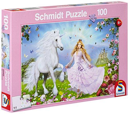 Schmidt Spiele 55565 Principessa degli unicorni- Puzzle da 100 pezzi