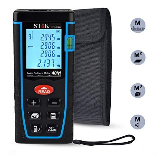 SToK St-Ldm40 Laser Rangefinder/Distance Measuring Meter Tape, 0.05 To 40 m, Black