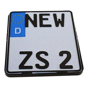 Kennzeichenhalter Motorrad 180 x 200mm Nummernschildhalter Kennzeichenträger schwarz Halterung Nummernschild 2
