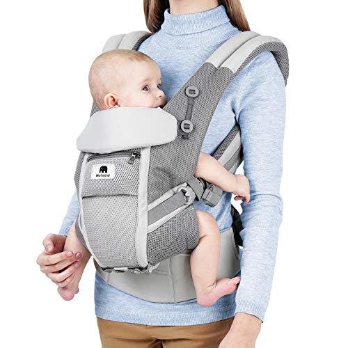 Meinkind Porte-Bébé Ergonomique Multi-Fonctions Ajustable Respirant, pour Bébé de 3-20 kg avec...