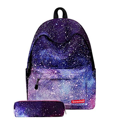 Surenhap Zaino Scuola Universo Galaxy Sky Stampa Scuola con Stampa Zaino Bambini per Ragazzi e...