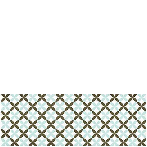 laroom 14164–Tappeto per Cucina in Vinile, Motivo Piastrelle a Fiori, 140cm