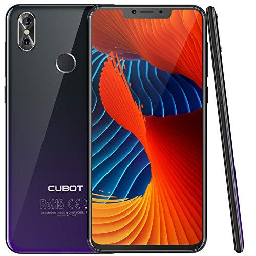 """CUBOT P20 (2018) 4G Network Pantalla 18:9/6.18"""" Diseño El Fin de los Bordes Android 8.0 Dual Sim Teléfono Libre, Batería 4000 mAh, 4GB + 64GB, Dual Cámara, Octa-Core, WiFi, Bluetooth,GPS, Morado"""