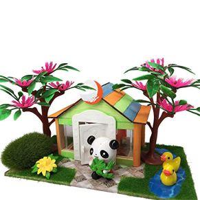 Juguetes Para Niños Diy Modelo de cabina de madera Bloques tridimensionales Juguetes de los niños de jardín de infantes…