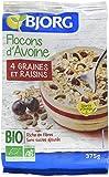 Bjorg Flocons Avoine Graines Raisins Bio 375 g - Lot de 4